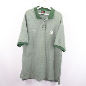 Vintage Nike Michigan State Spartans Golf Polo L